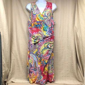 Ralph Lauren Bright Multicolored Paisley Dress